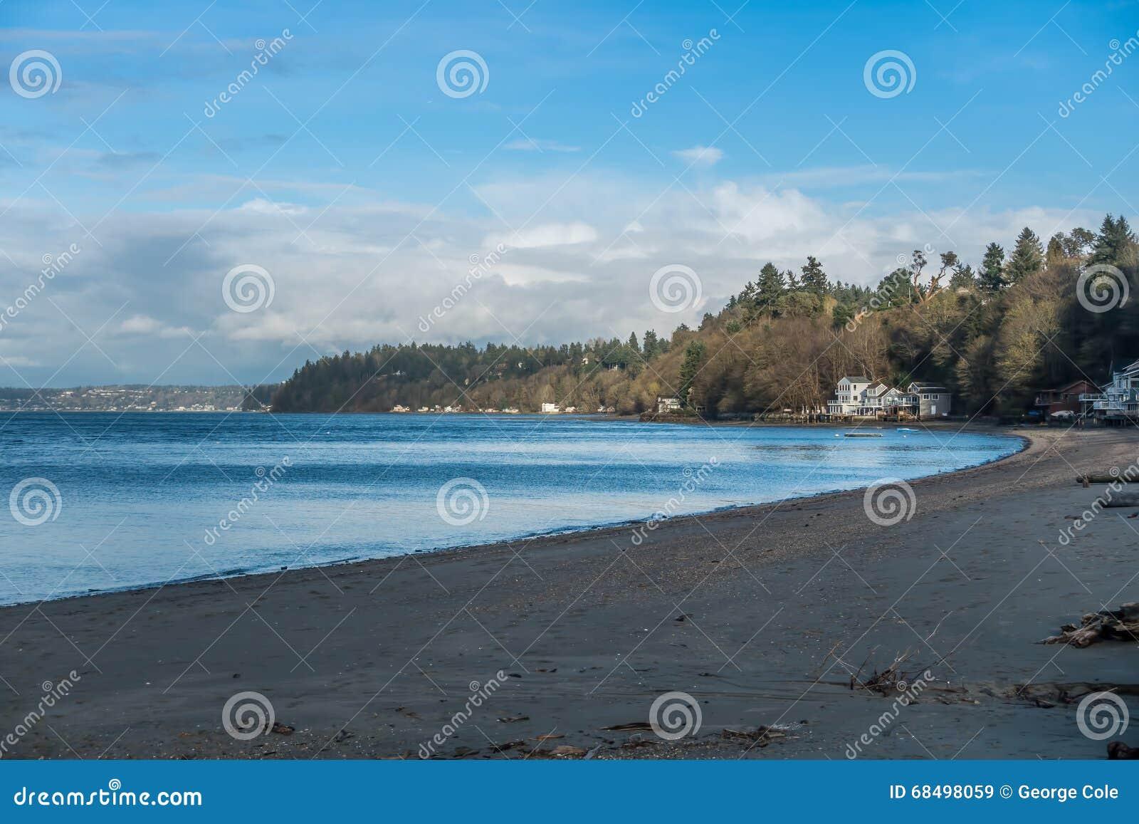 Beach At Dash Point