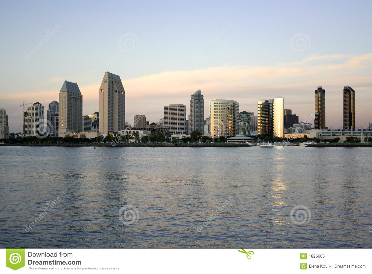 beach in downtown san diego ca stock image image of evening california 1826605. Black Bedroom Furniture Sets. Home Design Ideas
