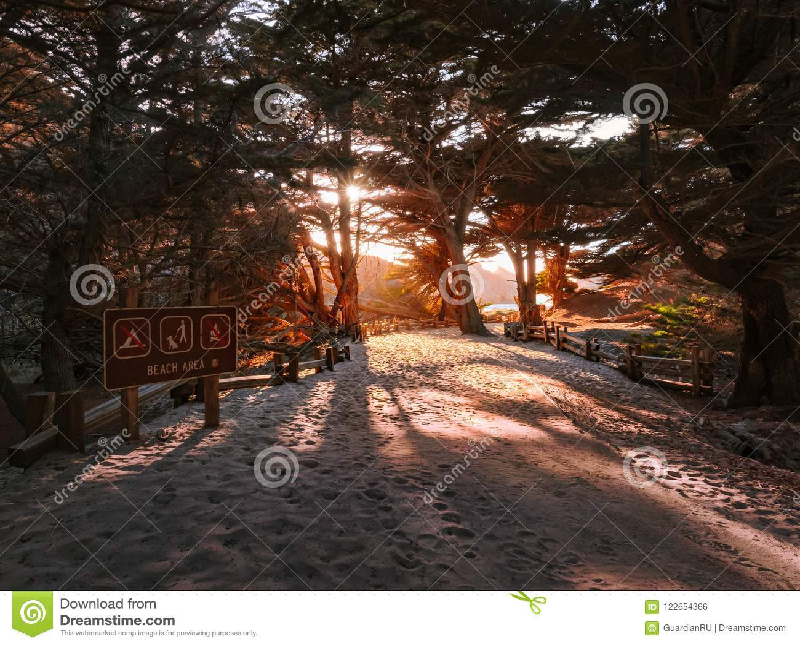 Beach entrance at Pfeiffer Big Sur State Park
