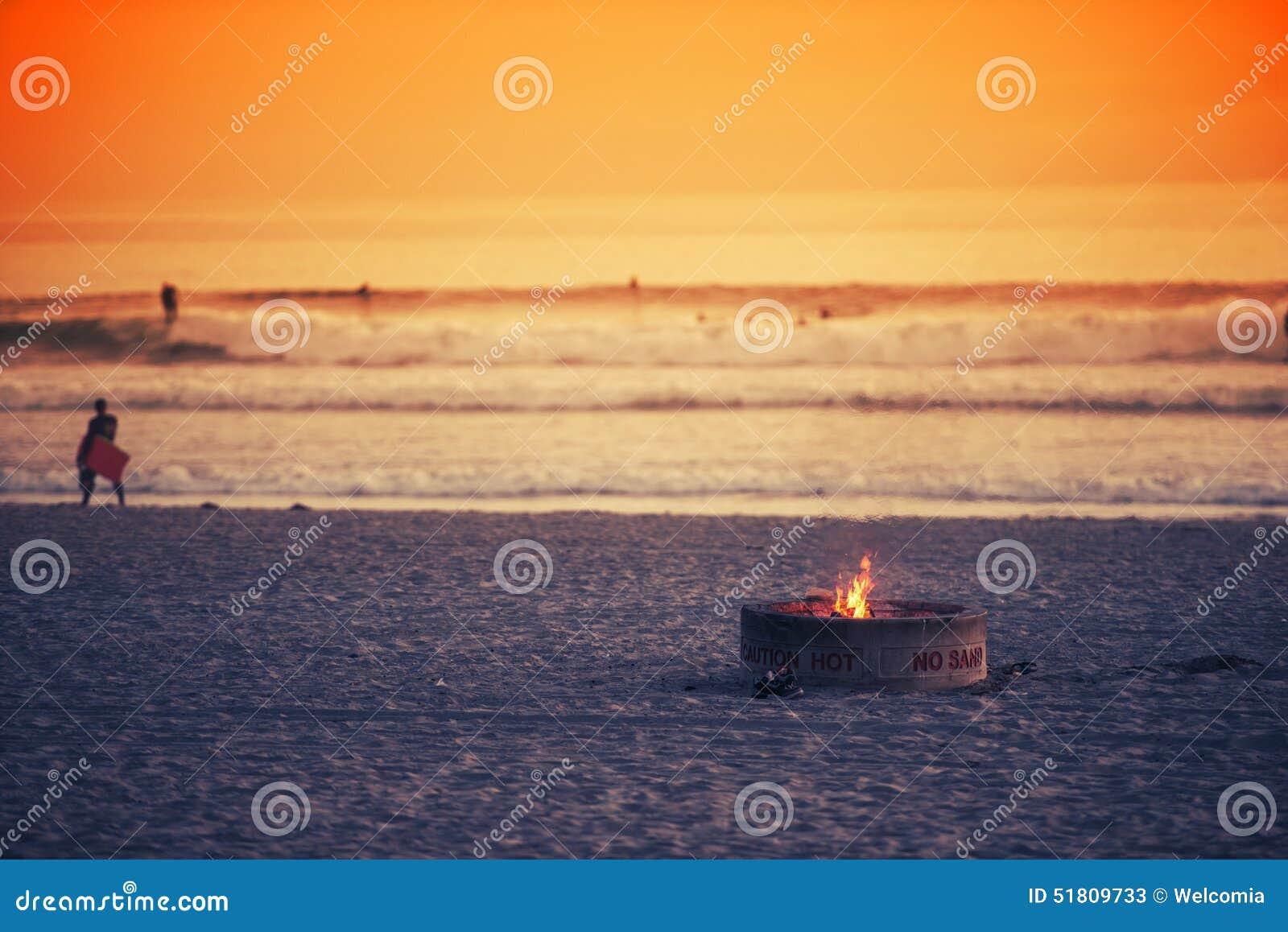Beach Fire Pit Stock Photo - Image: 51809733