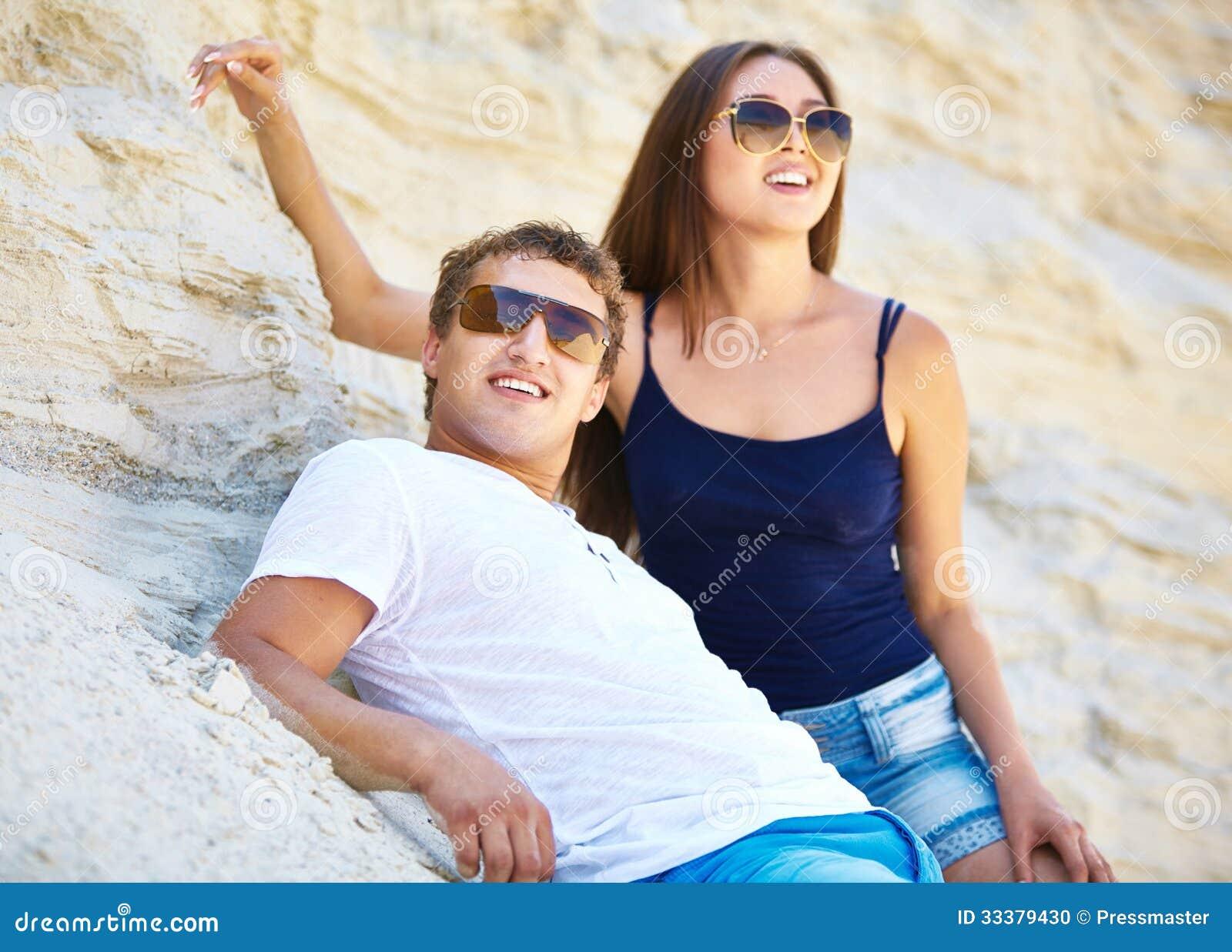 Beach Friends Stock Photo - Image: 33379430