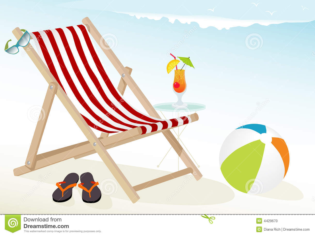 Beach Fun Icons Stock Photo - Image: 4429670