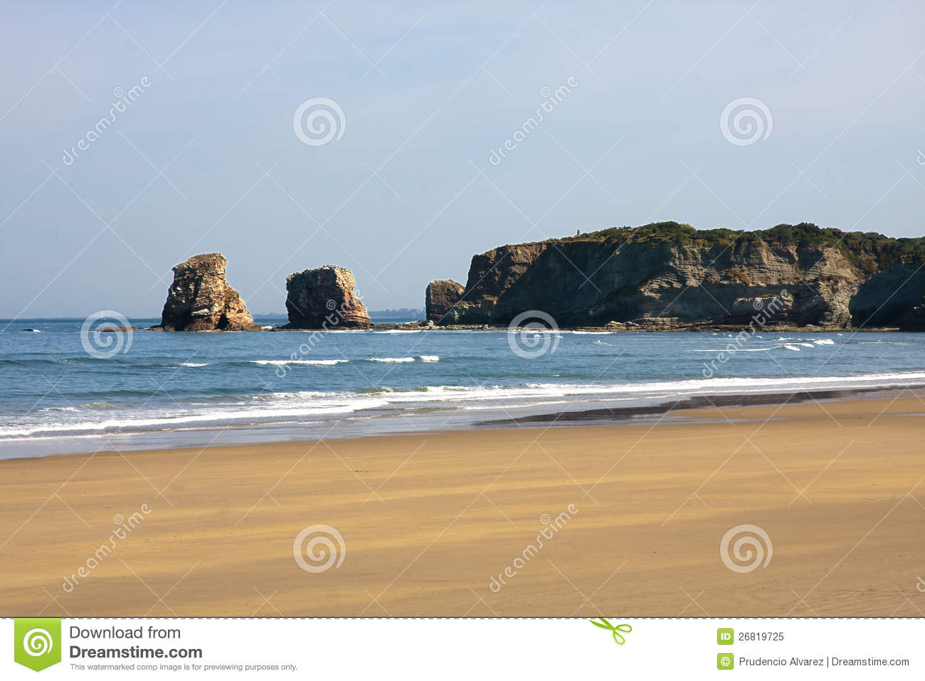 Beach hendaye france royalty free stock photo image for Hendaye france
