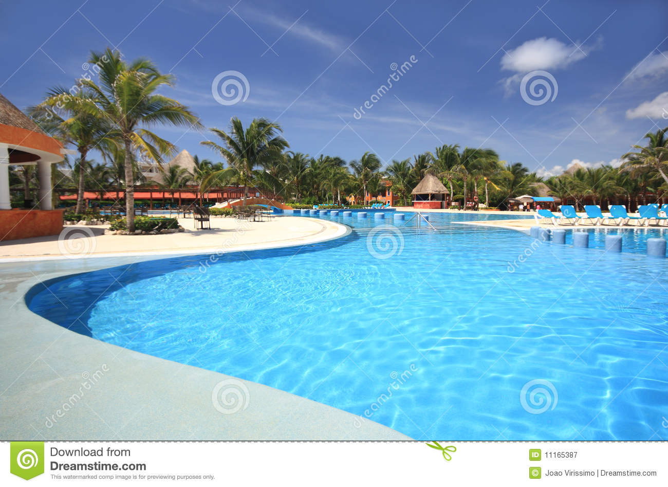 Beach Hotel Resort Swimming Pool Royalty Free Stock