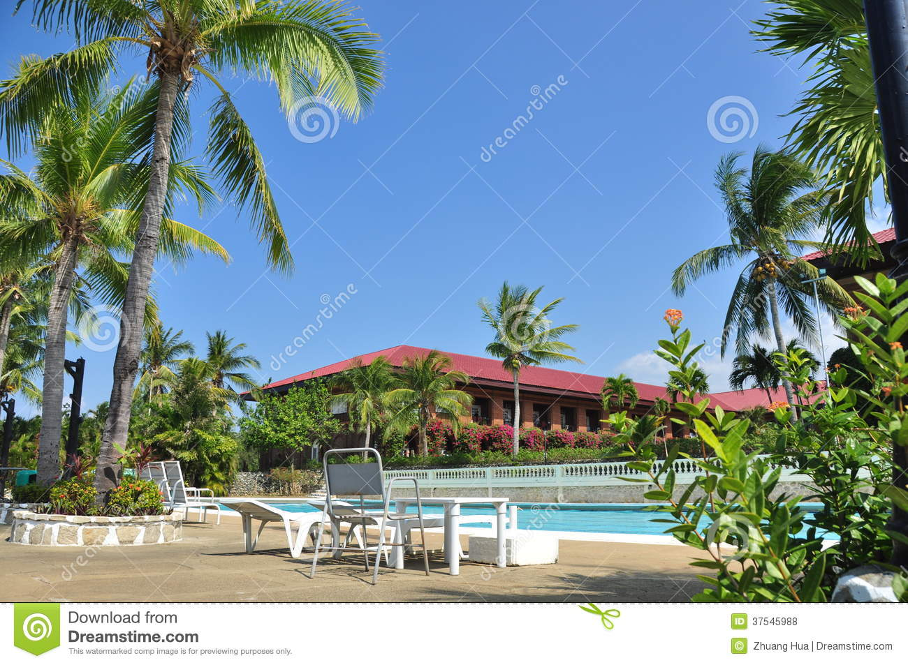 Beach Hotel Resort Swimming Pool Royalty Free Stock Photos Image 37545988