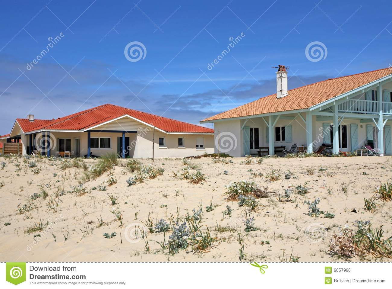 Download Beach house stock photo. Image of home, aqua, france, atlantic - 6057966