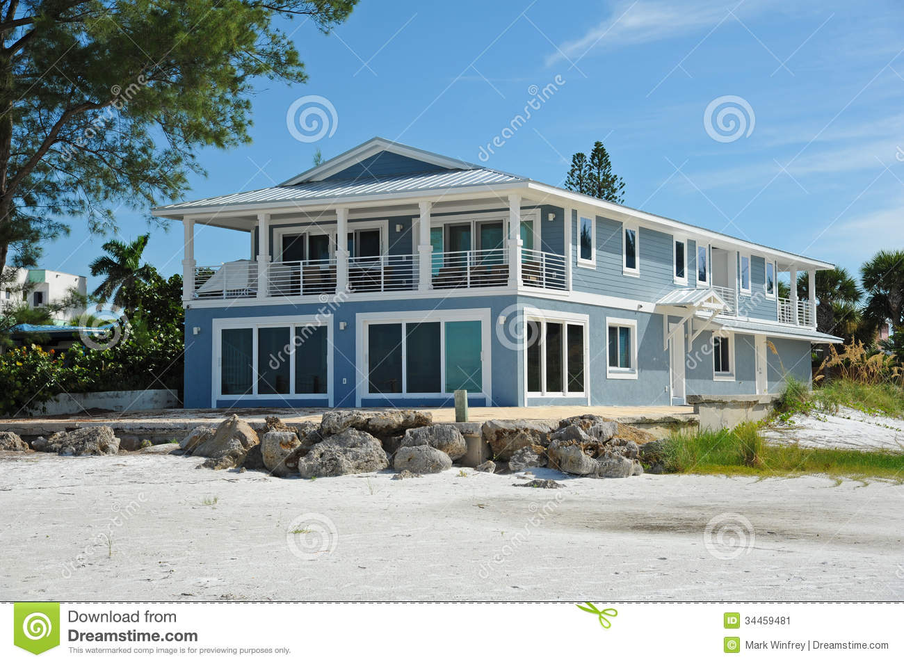 Beach house stock image image 34459481 for Large beach house