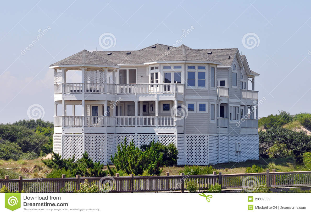 Beach house in north carolina stock image image 20309533 for Beach house plans outer banks