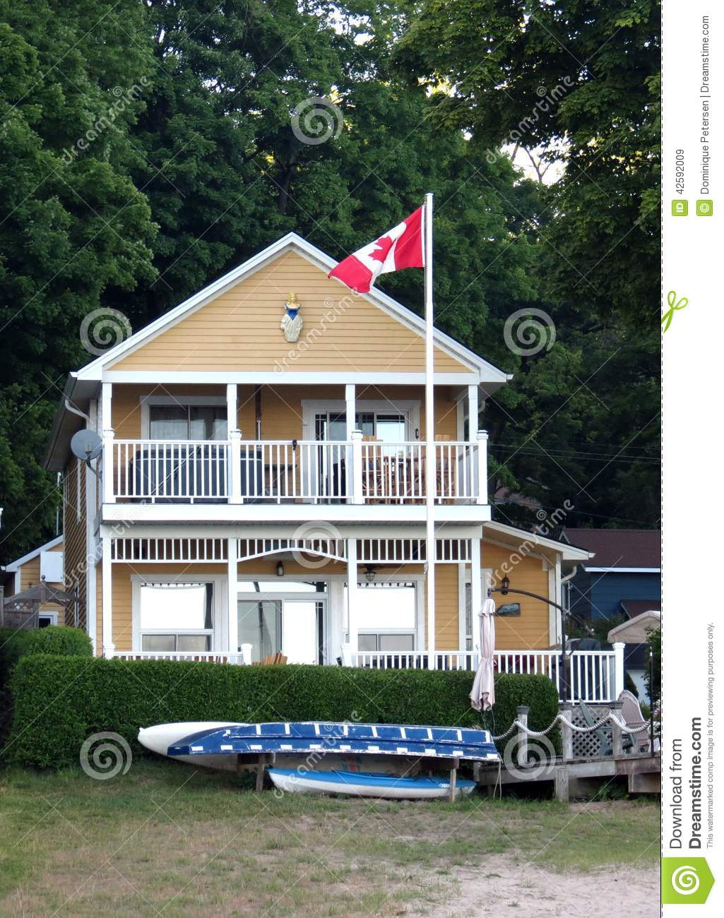 Beach house stock photo image 42592009 for Two story house with balcony