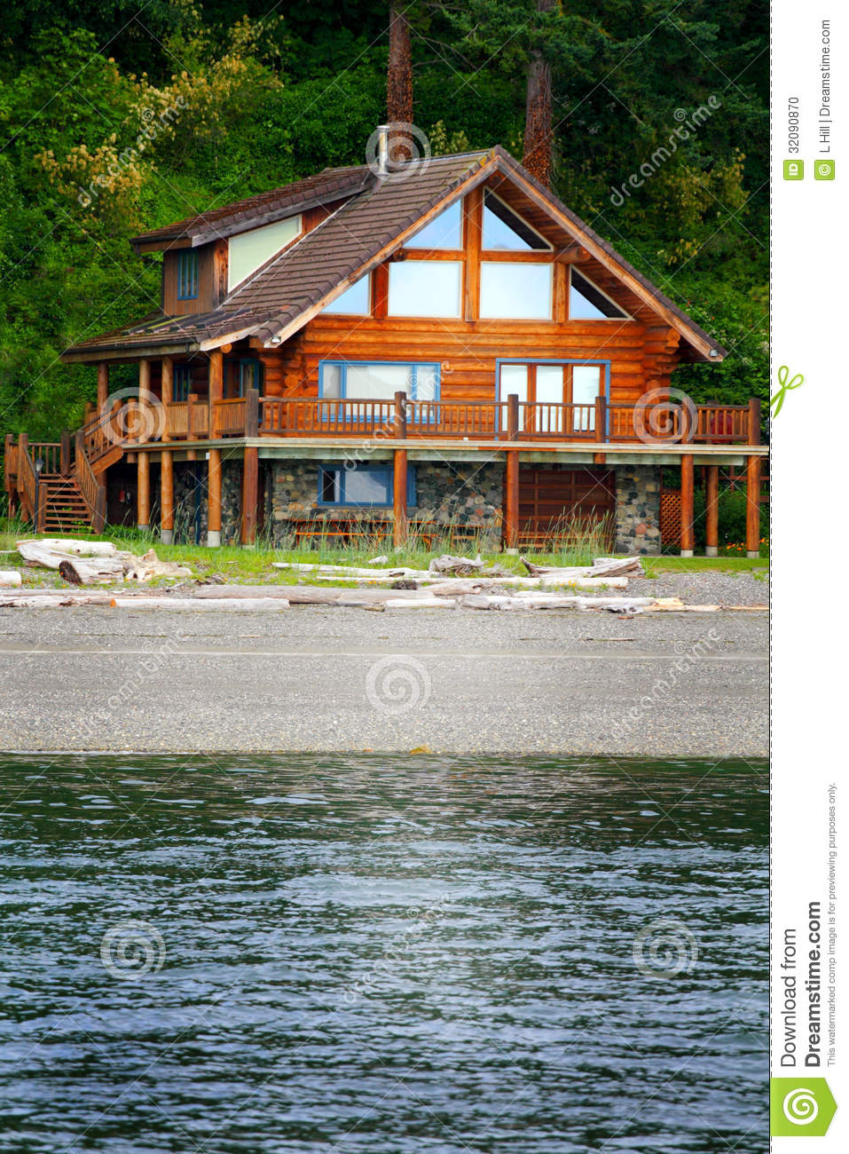 Beach house stock photo image 32090870 for Large beach house
