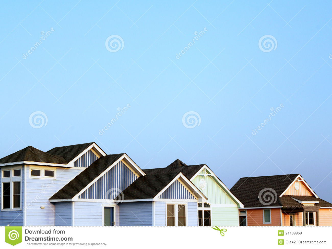 Beach houses royalty free stock photos image 21139968 for Beach house plans outer banks