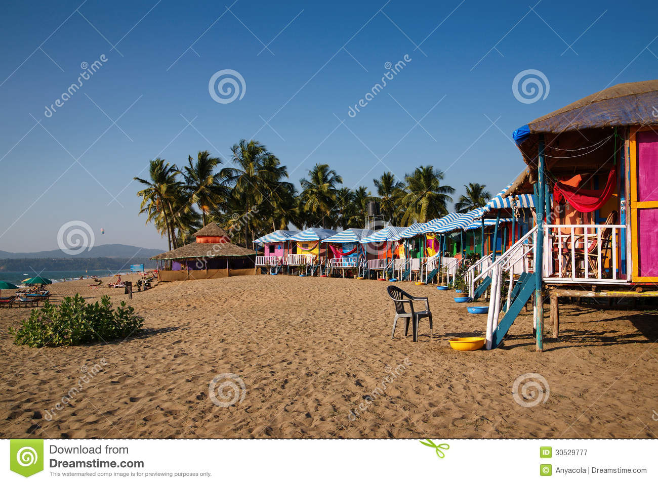 Beach Houses In Goa Stock Image Image Of Outdoor Cottages 30529777