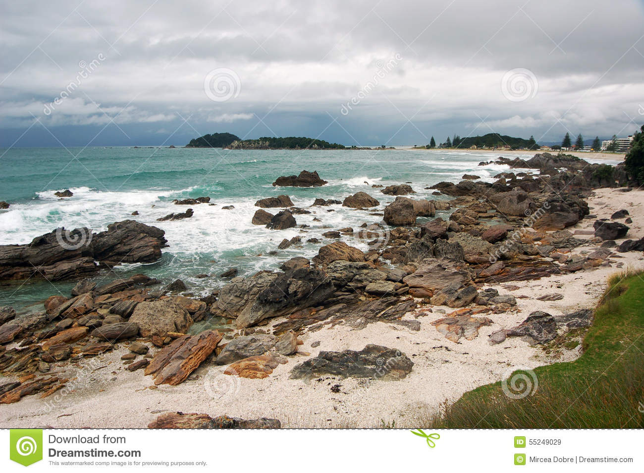 beach landscape tauranga city north island new zealand