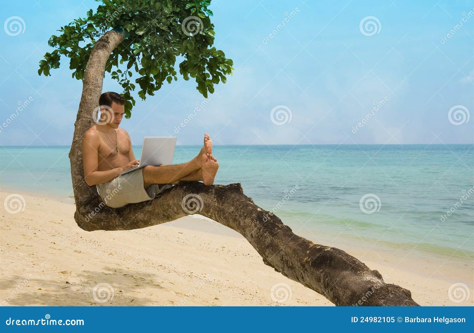Palm Beach Tan Prices >> Beach Laptop Vacation Royalty Free Stock Photo - Image: 24982105
