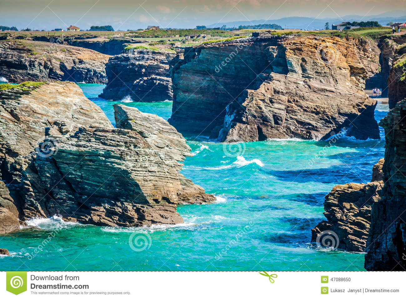 Beach Of Las Catedrales Or As Catedrais, Ribadeo, Galicia, Spain Stock Photo ...