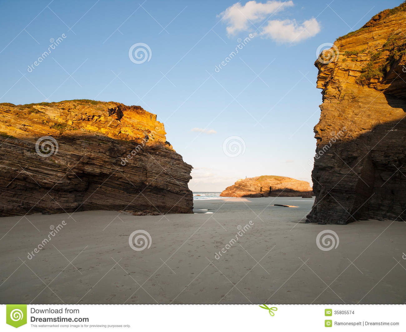 Beach Of Las Catedrales Or As Catedrais, Ribadeo, Galicia, Spain Stock Images...