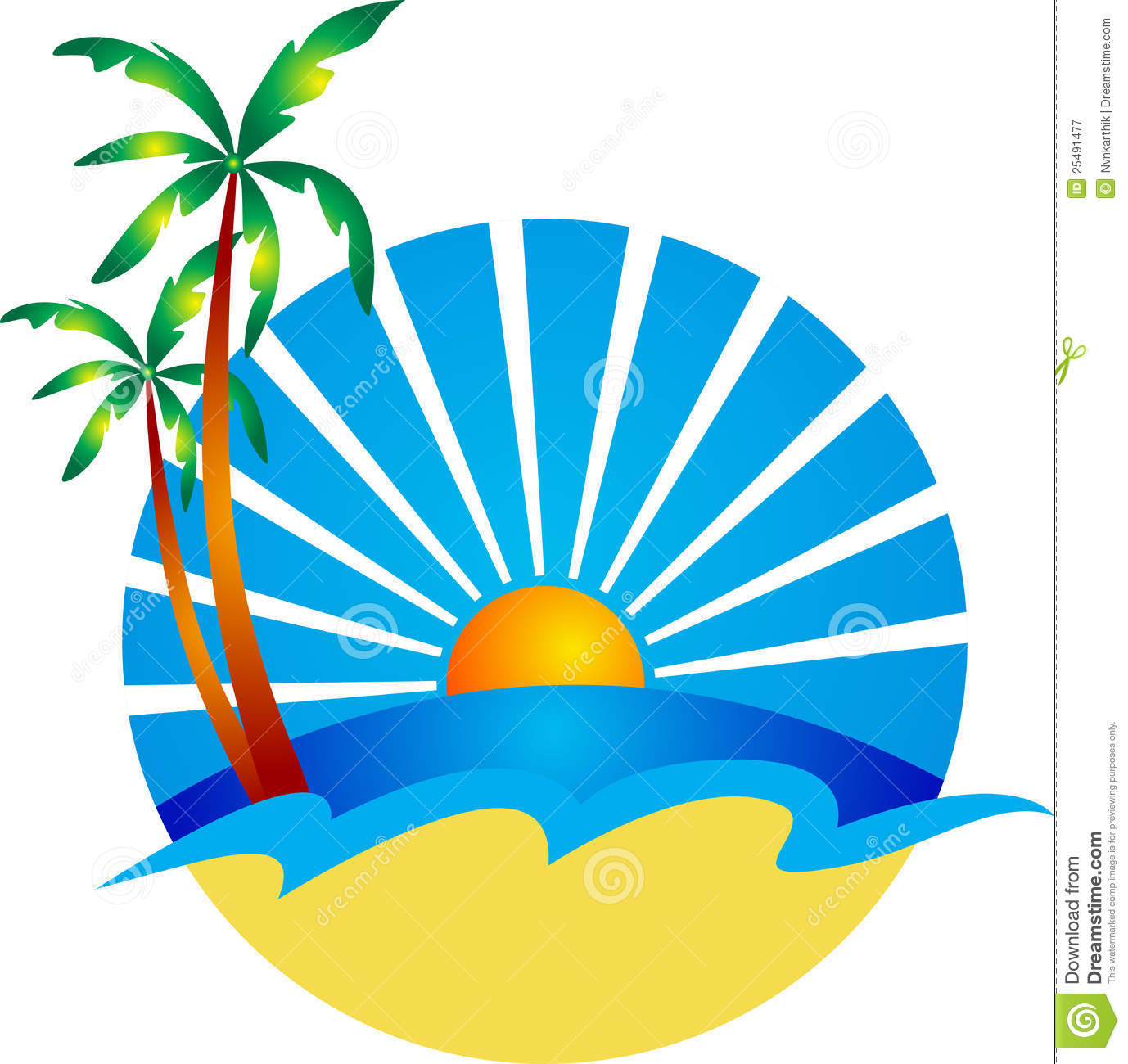 Beach Logo Royalty Free Stock Photography - Image: 25491477