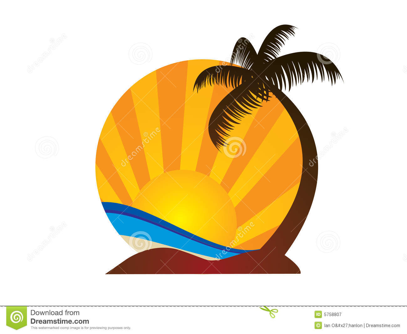 Beach logo stock vector. Illustration of logo, summer ...