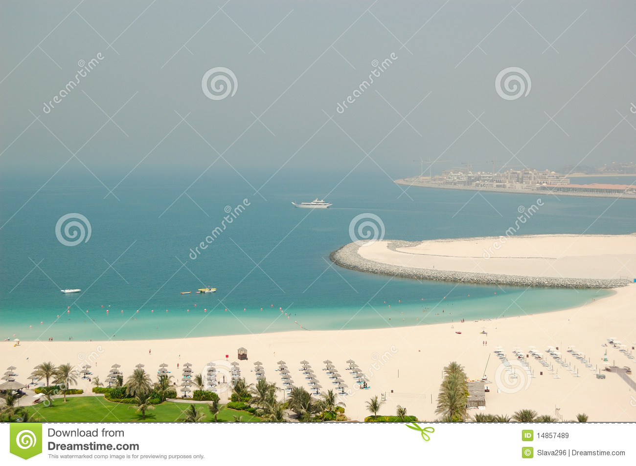 Beach of luxury hotel