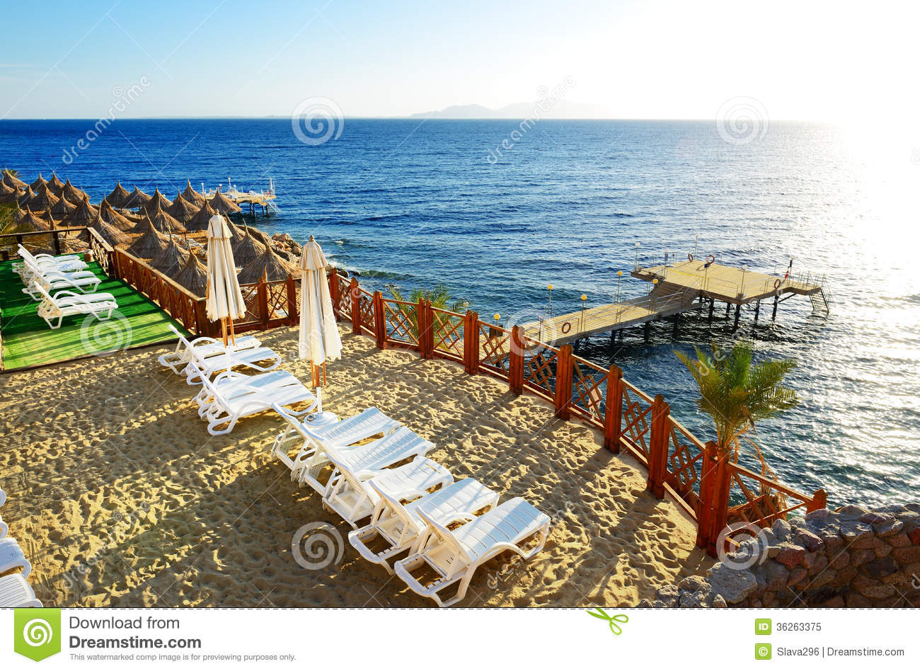 Download beach at the luxury hotel