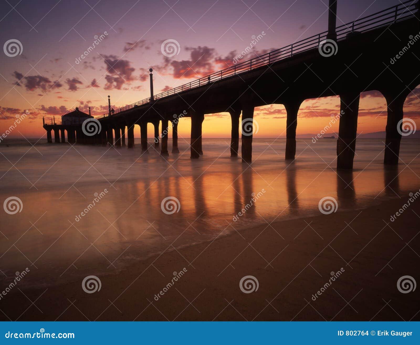 Beach manhattan pier