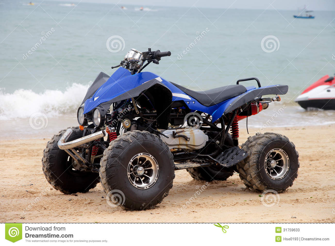 Beach Motorcycle Stock Photos - Image: 31759633