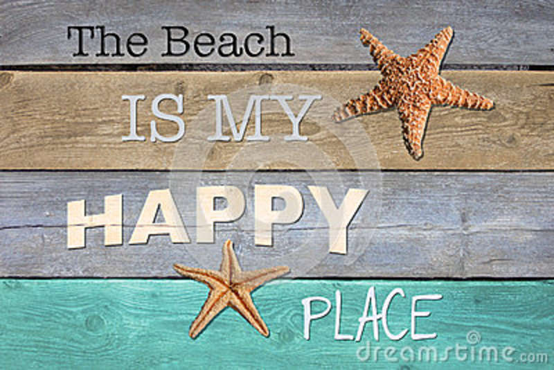 the beach is my happy place stock illustration illustration of