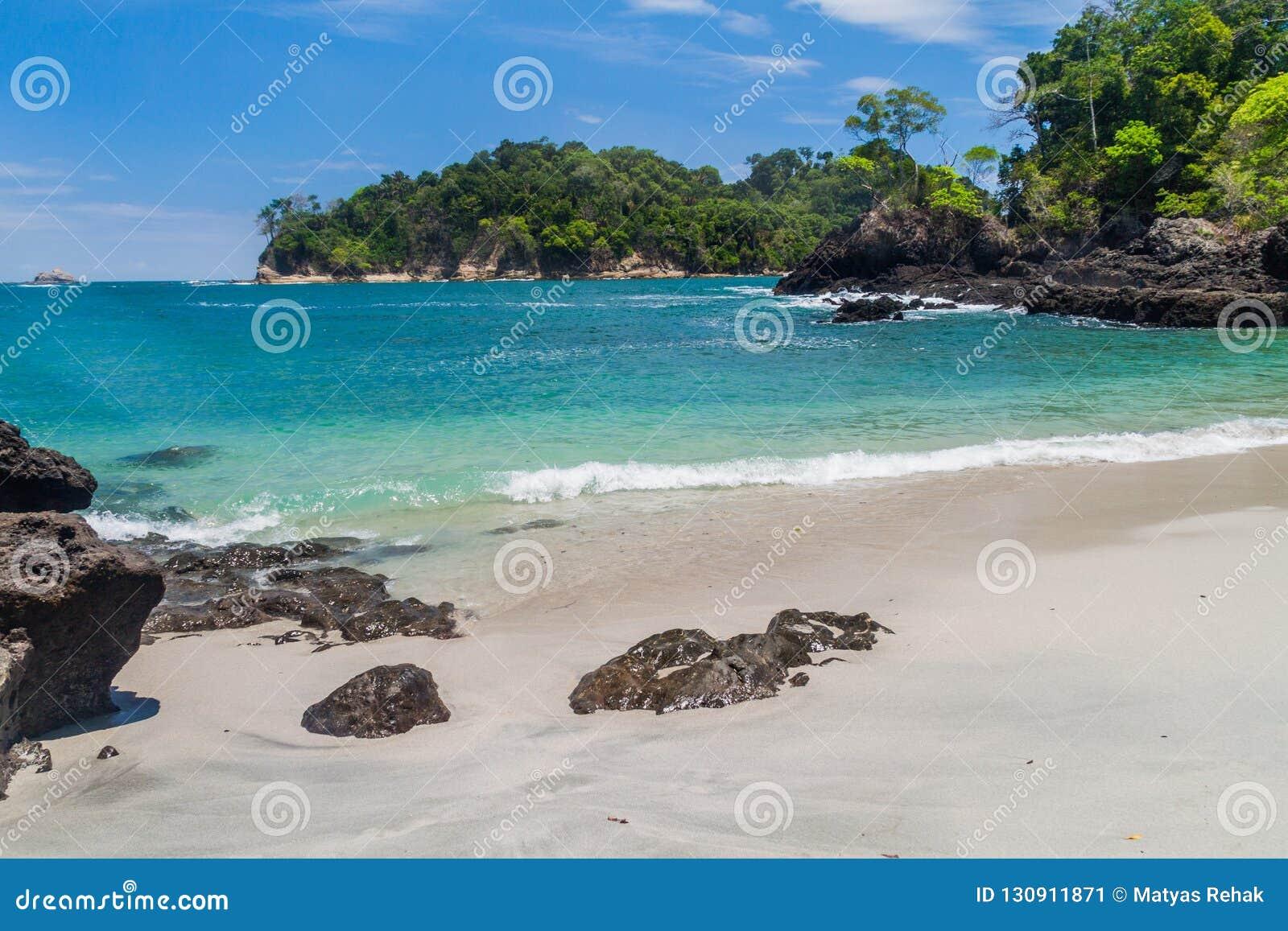 Beach in National Park Manuel Antonio, Costa Ri