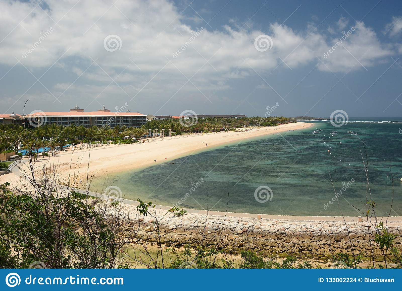 The Beach Nusa Dua Bali Indonesia Stock Photo Image Of