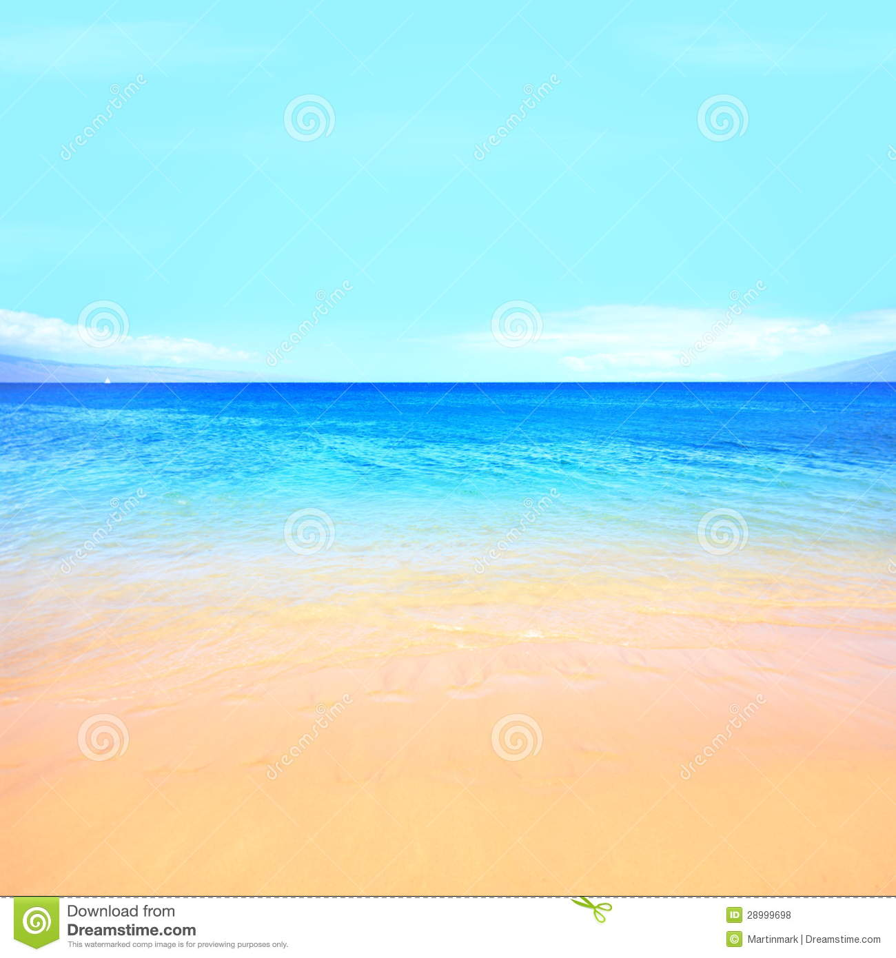 Beach Ocean Background Stock Photo Image Of Copyspace