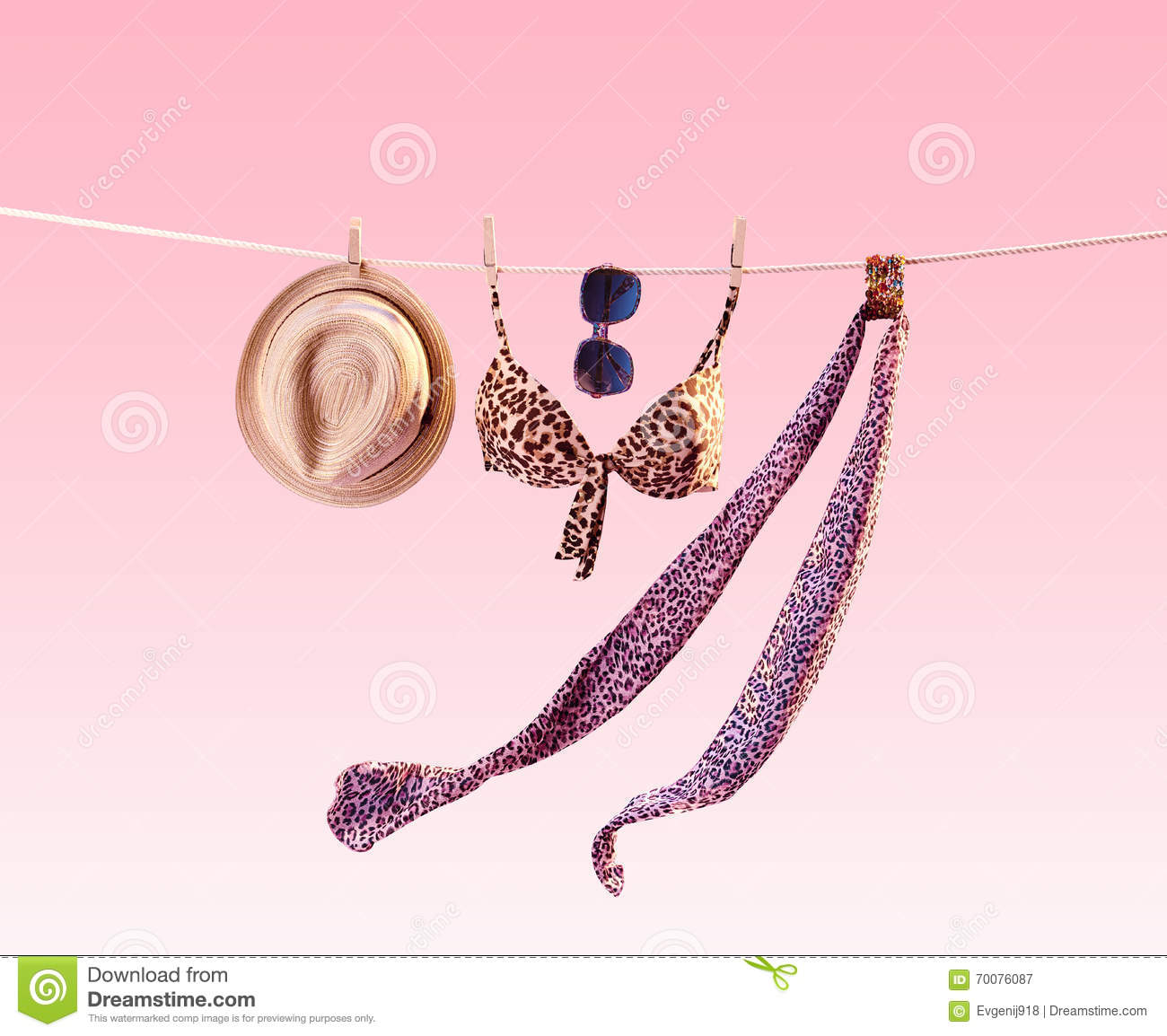 Beach Outfit. Summer Clothes Set. Vacation Stock Photo ...