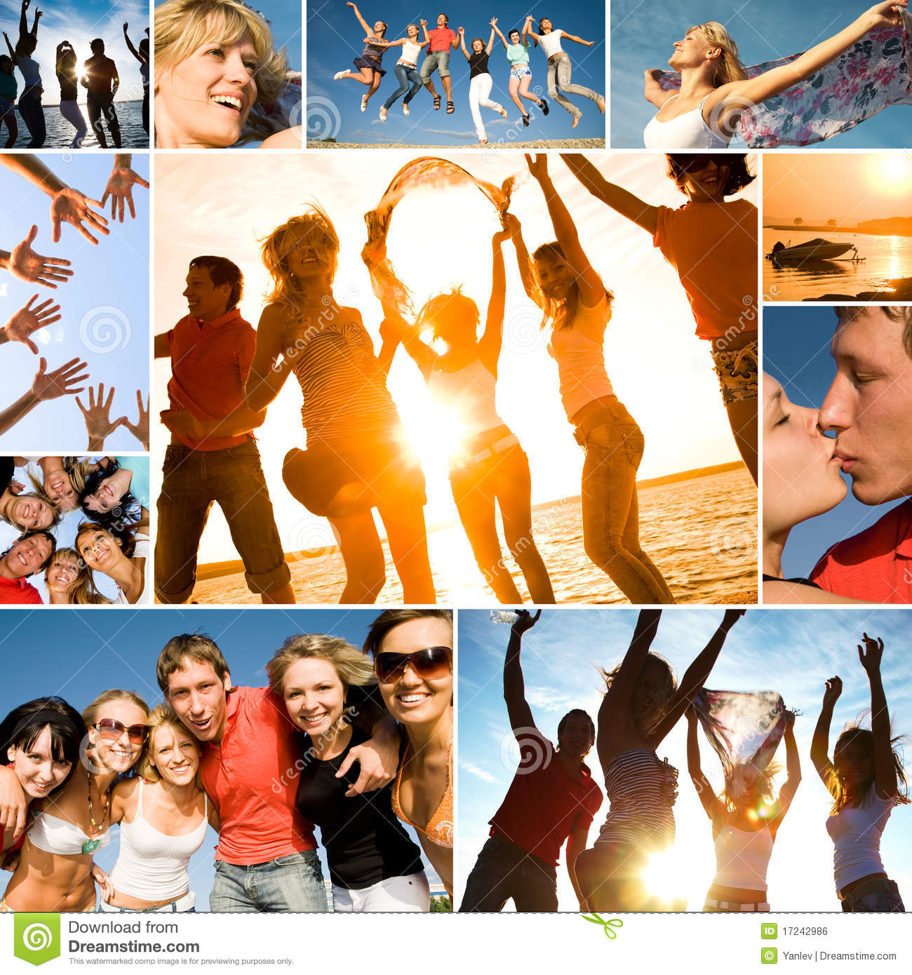 Young Happy Beautiful Family Playing Together On The Beach: Beach Party Royalty Free Stock Image
