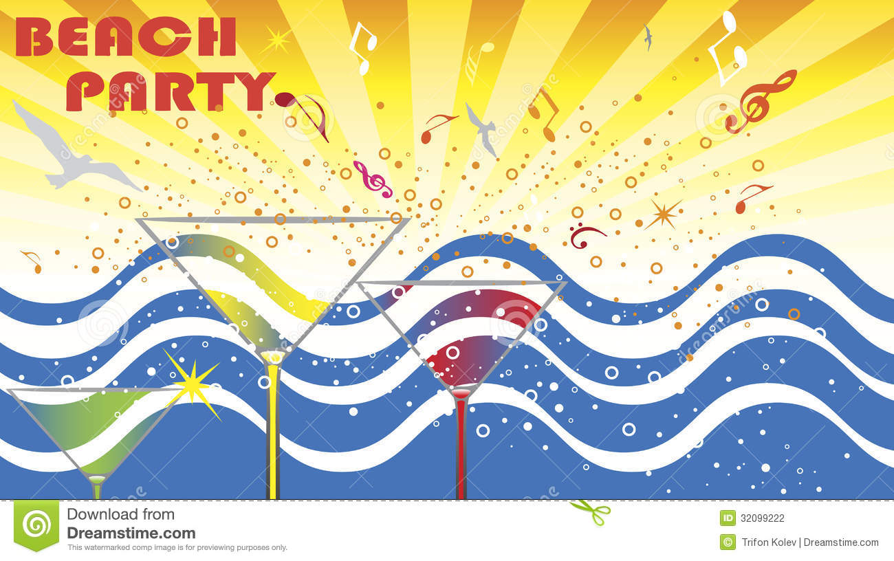 Beach Party Stock Photography - Image: 32099222