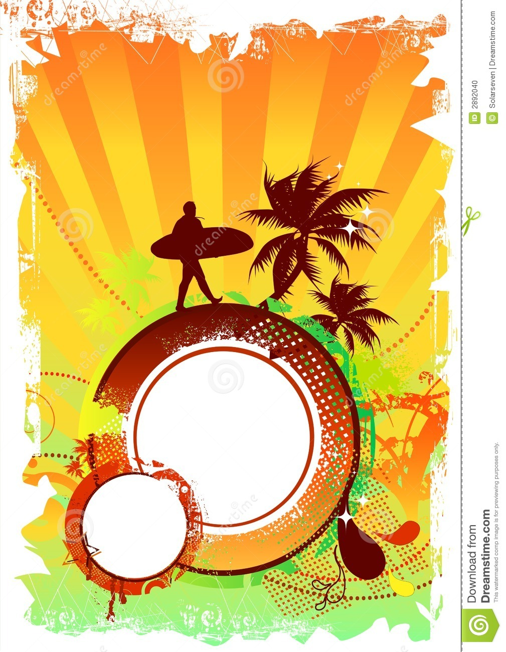 Beach party design stock illustration illustration of for Beach design