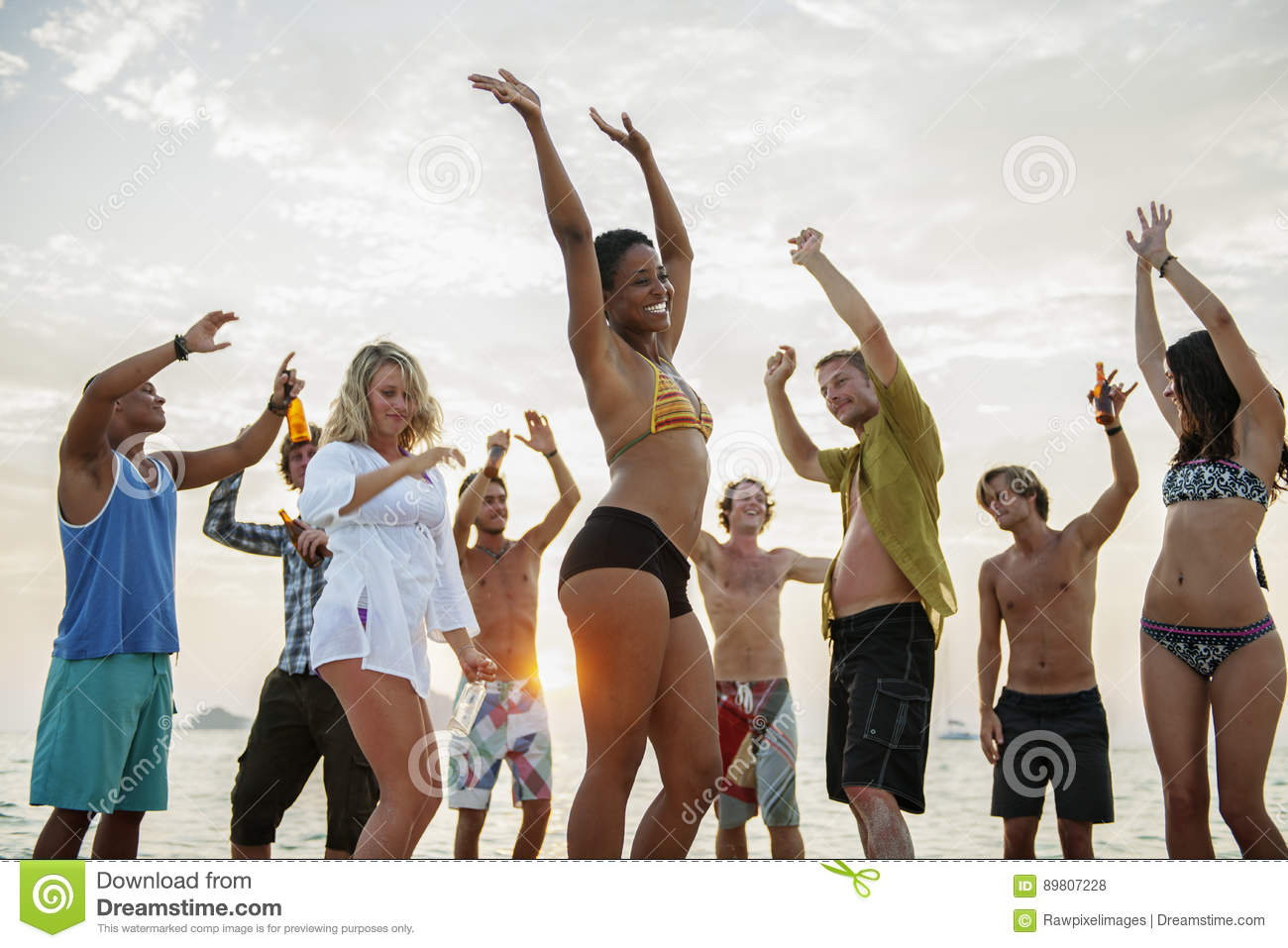 Beach Party Freedom Vacation Leisure Activity Concept