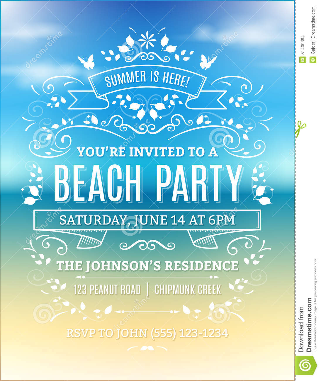 Beach Theme Party Invitation Template Free Exclusive Kiddie Beach – Beach Themed Party Invitations