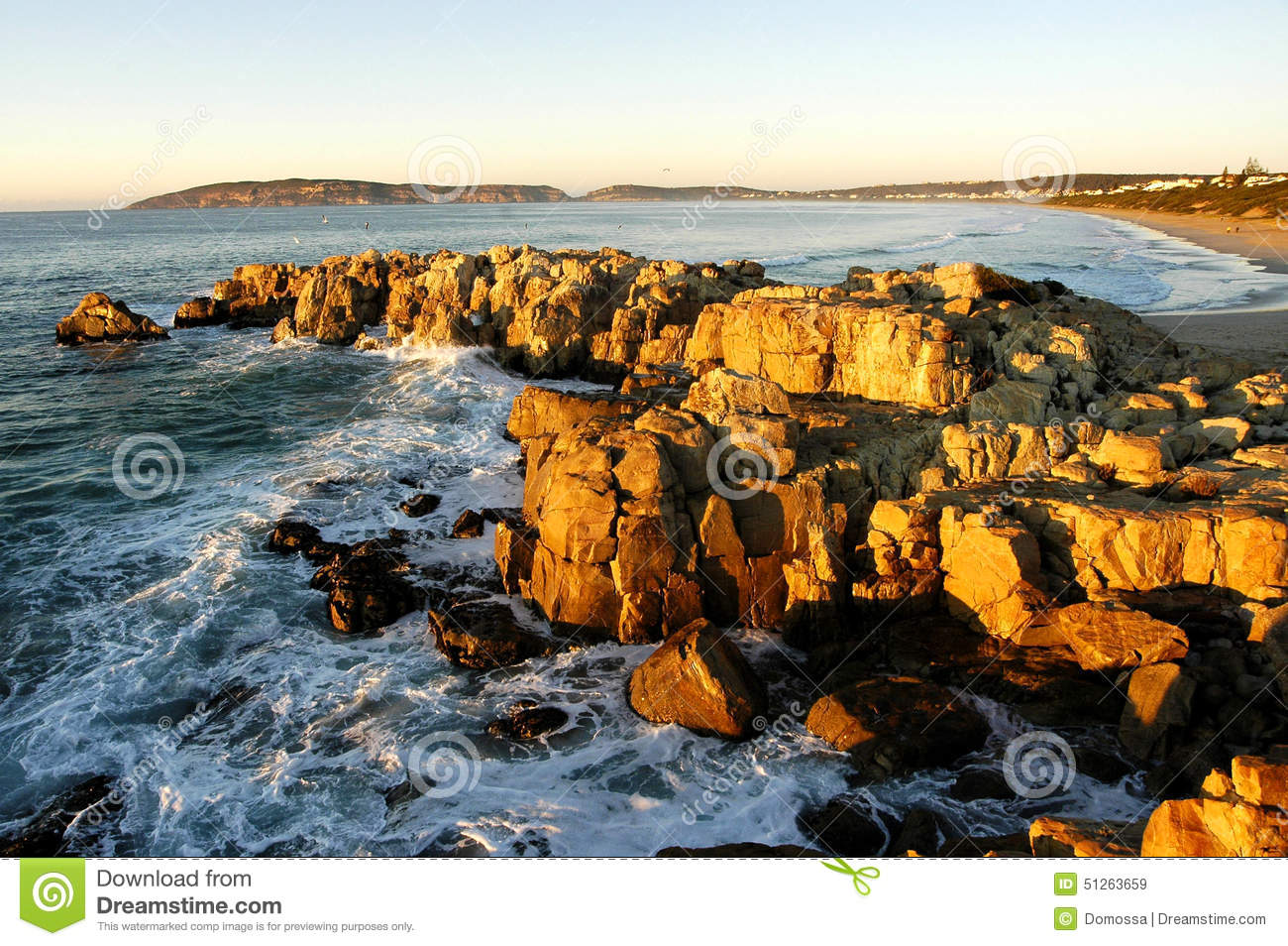 Beach In Plettenberg Bay, Garden Route, South Africa Stock Image ...