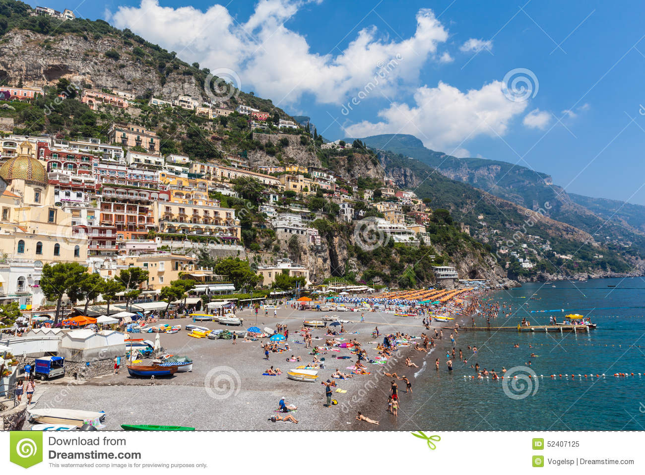 Beach In Positano Editorial Image Image 52407125