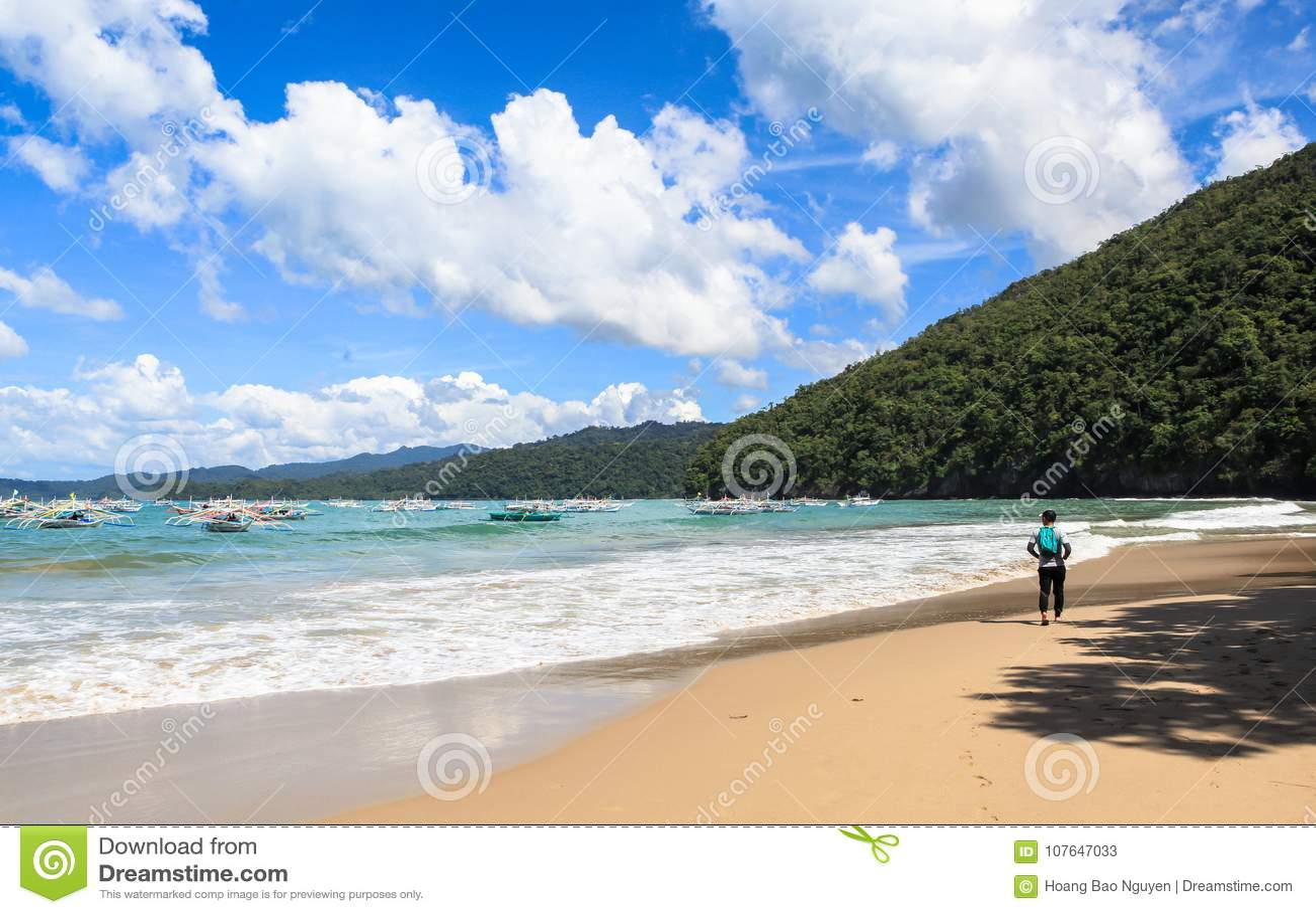 The Beach Of Puerto Princesa Philippines Editorial Stock