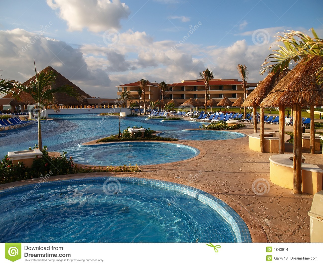 A beach resort in Cancun