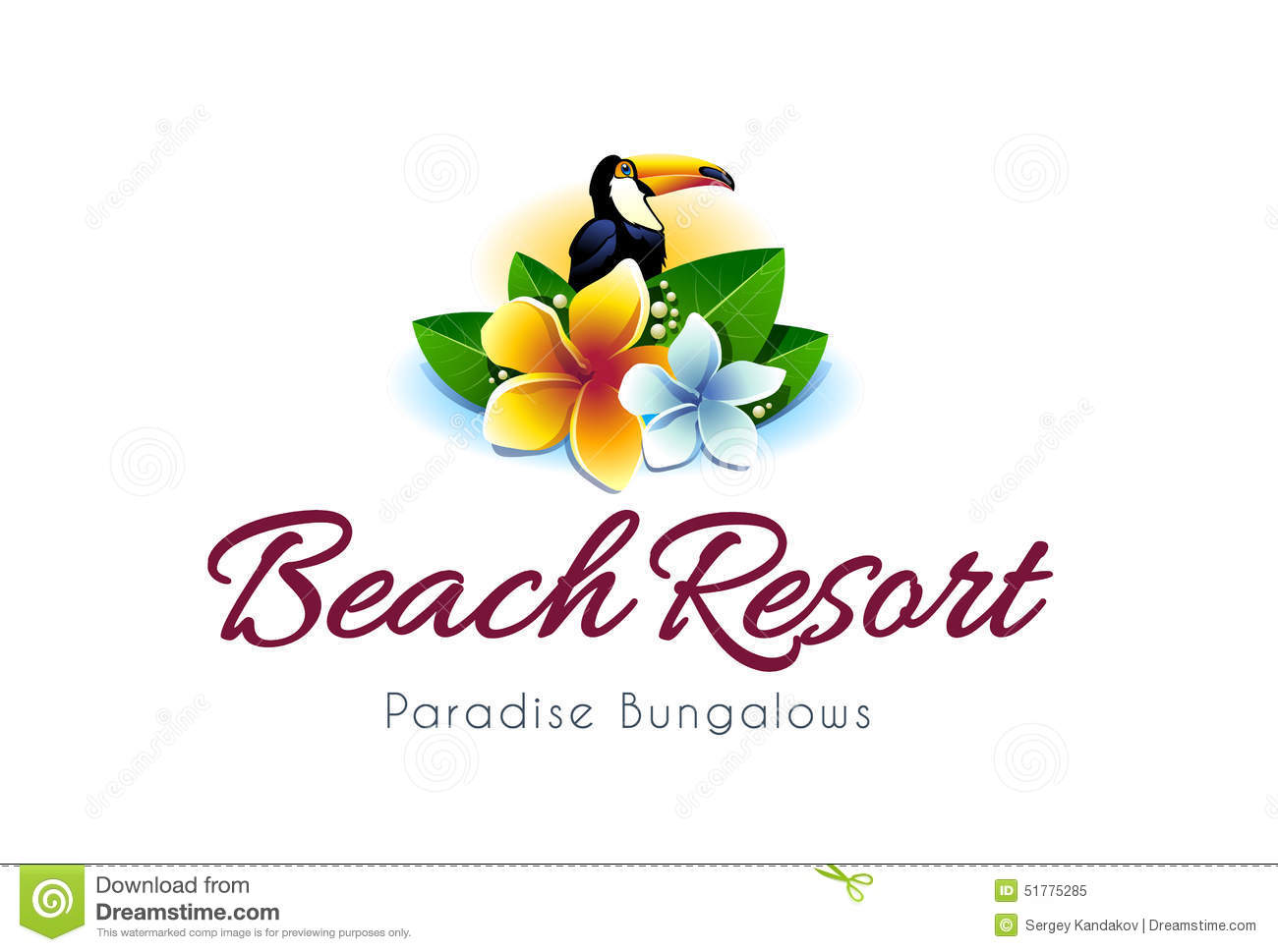 Beach Resort Logo stock vector. Illustration of tourism - 51775285 for Logo Design Samples Free Download  197uhy