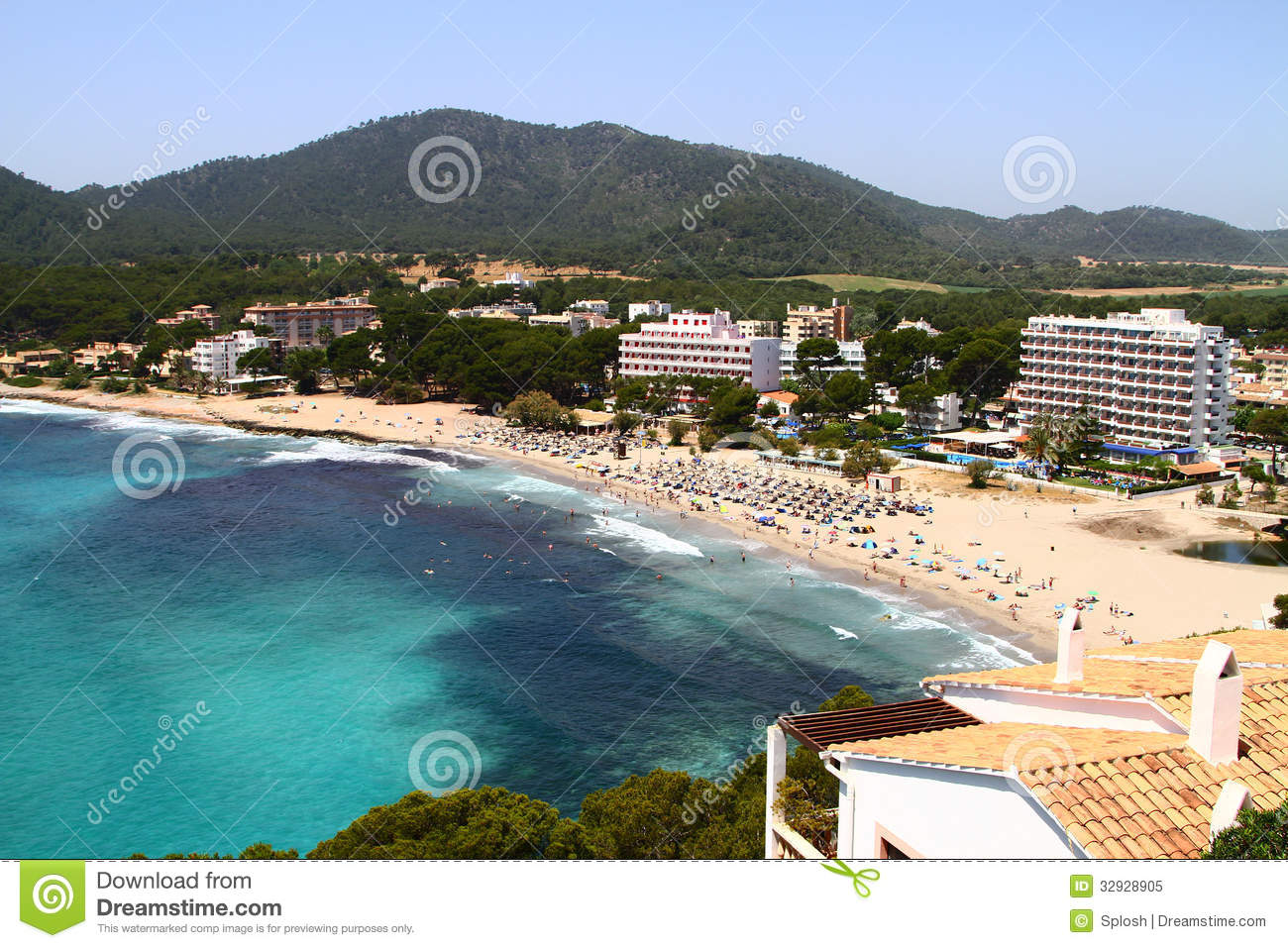 resorts in spain royalty free stock photo image