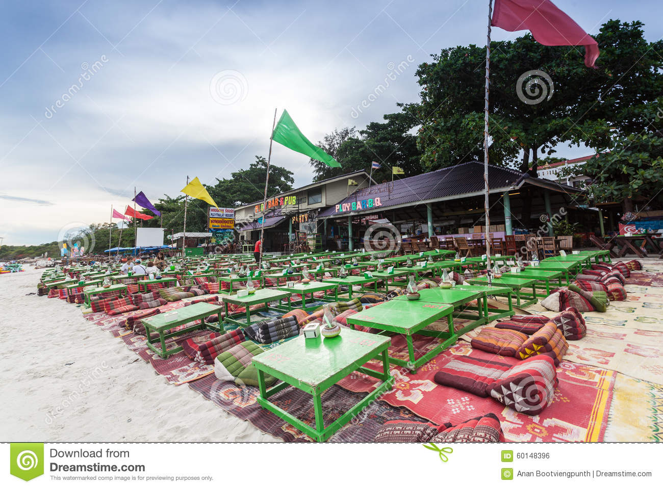 Beach Restaurant At Koh Samed,Thailand. Editorial Photo - Image: 60148396