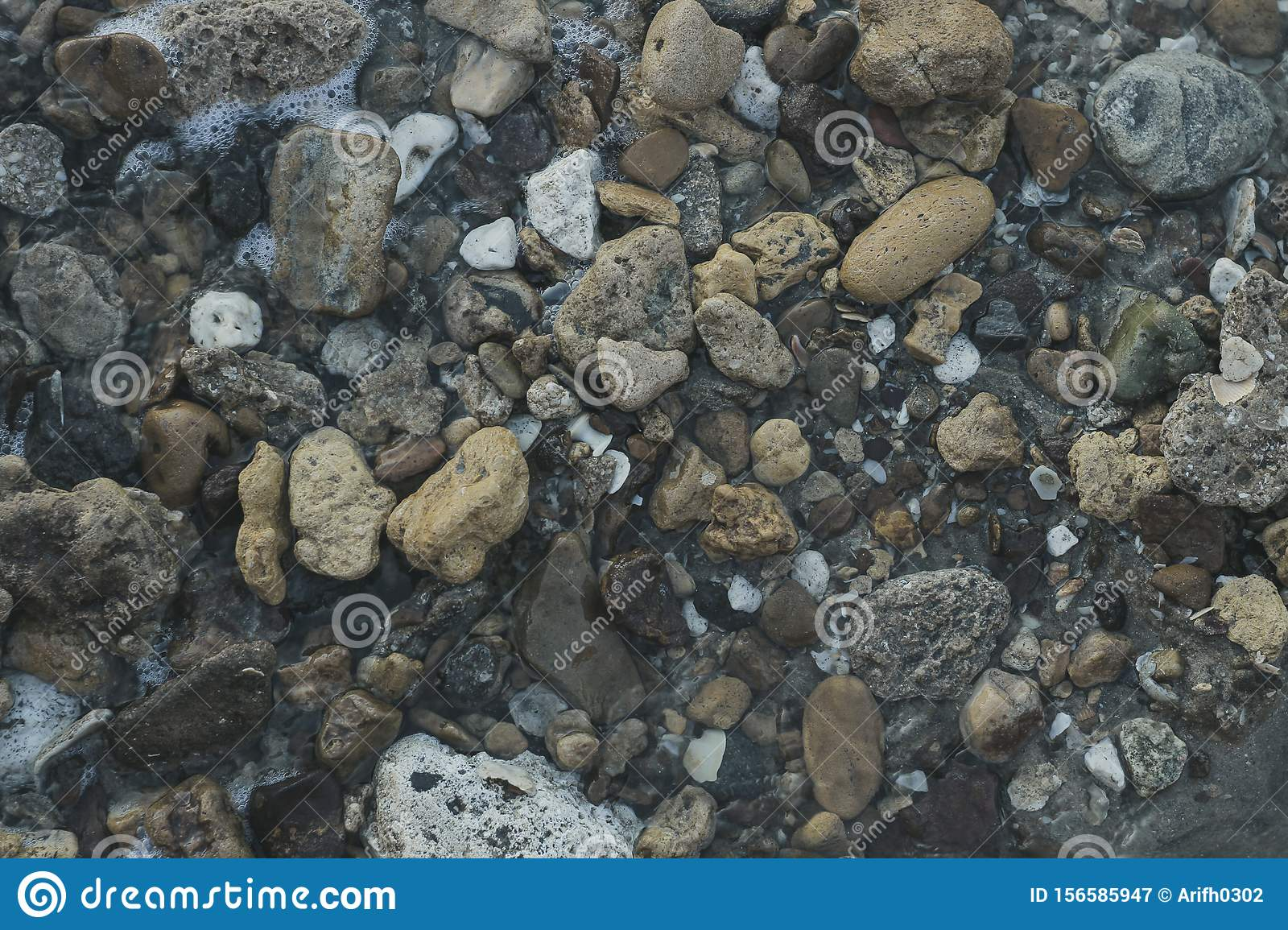 Beach Rocks From The Top Angle Of The Wallpaper Stock Image