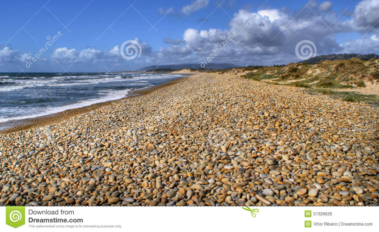 Download Beach rolling stones stock photo. Image of ocean, rounded - 57326626