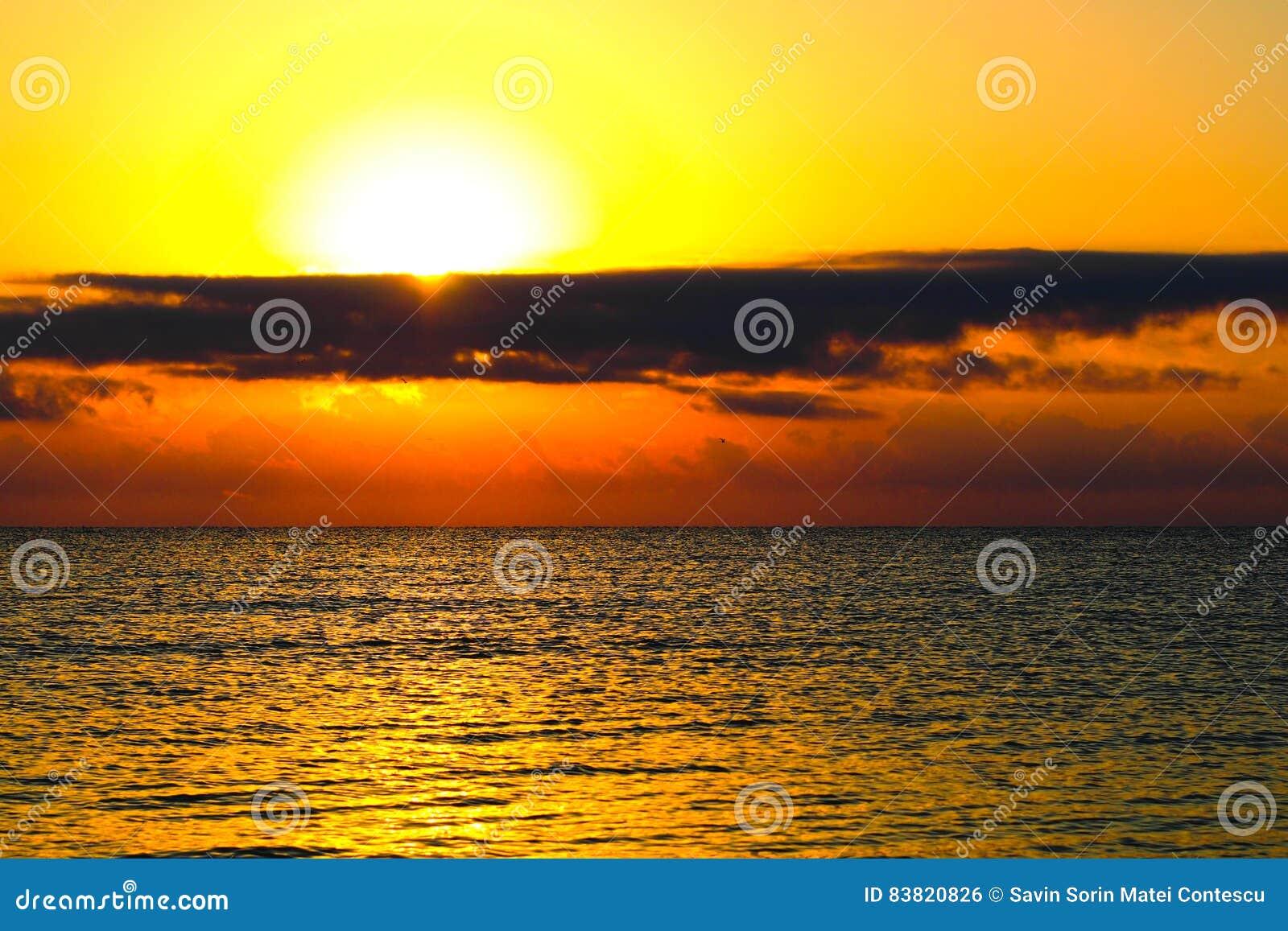 Beach in Romania at sunrise