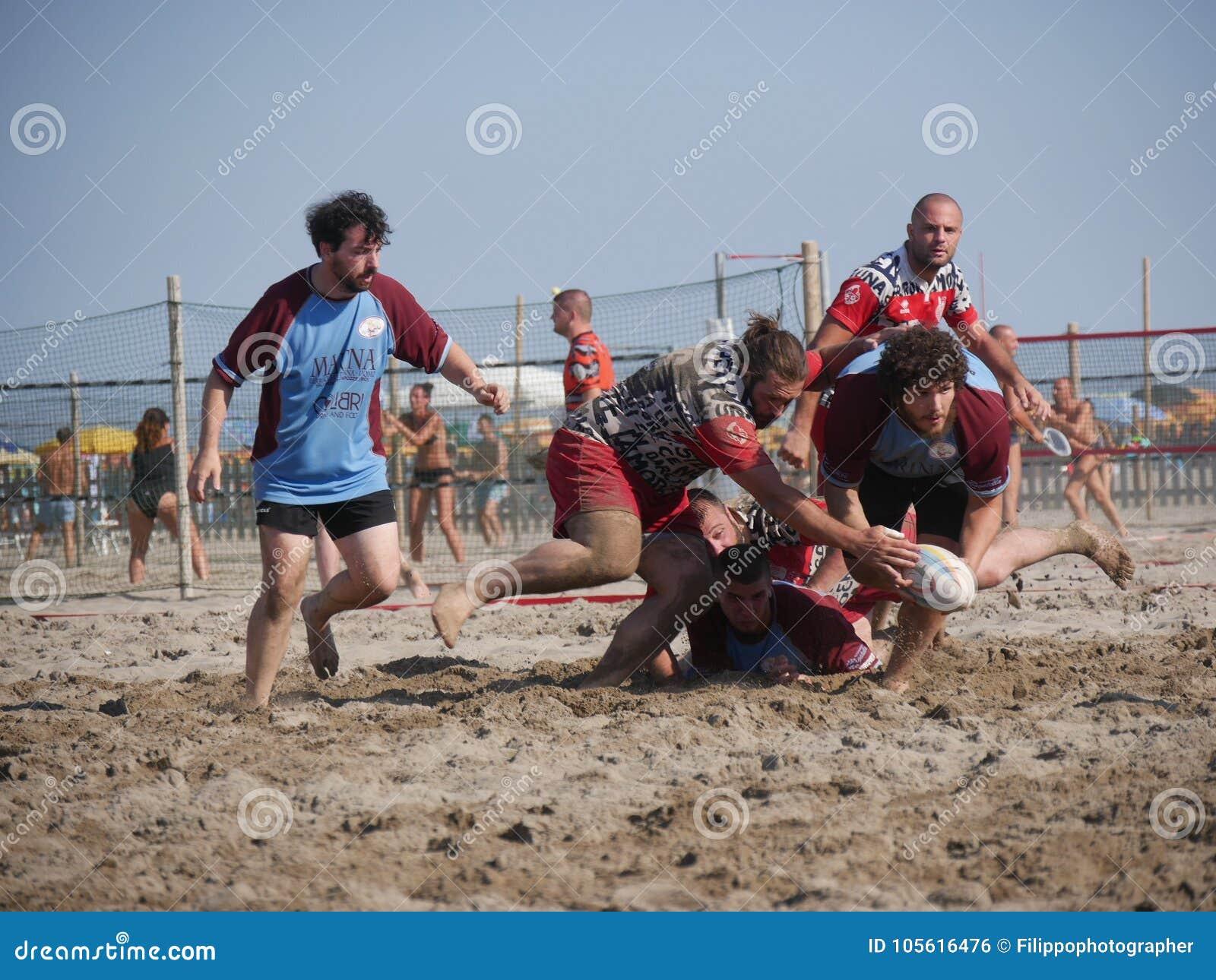 Beach rugby rosolina fi vs rosolina editorial photo
