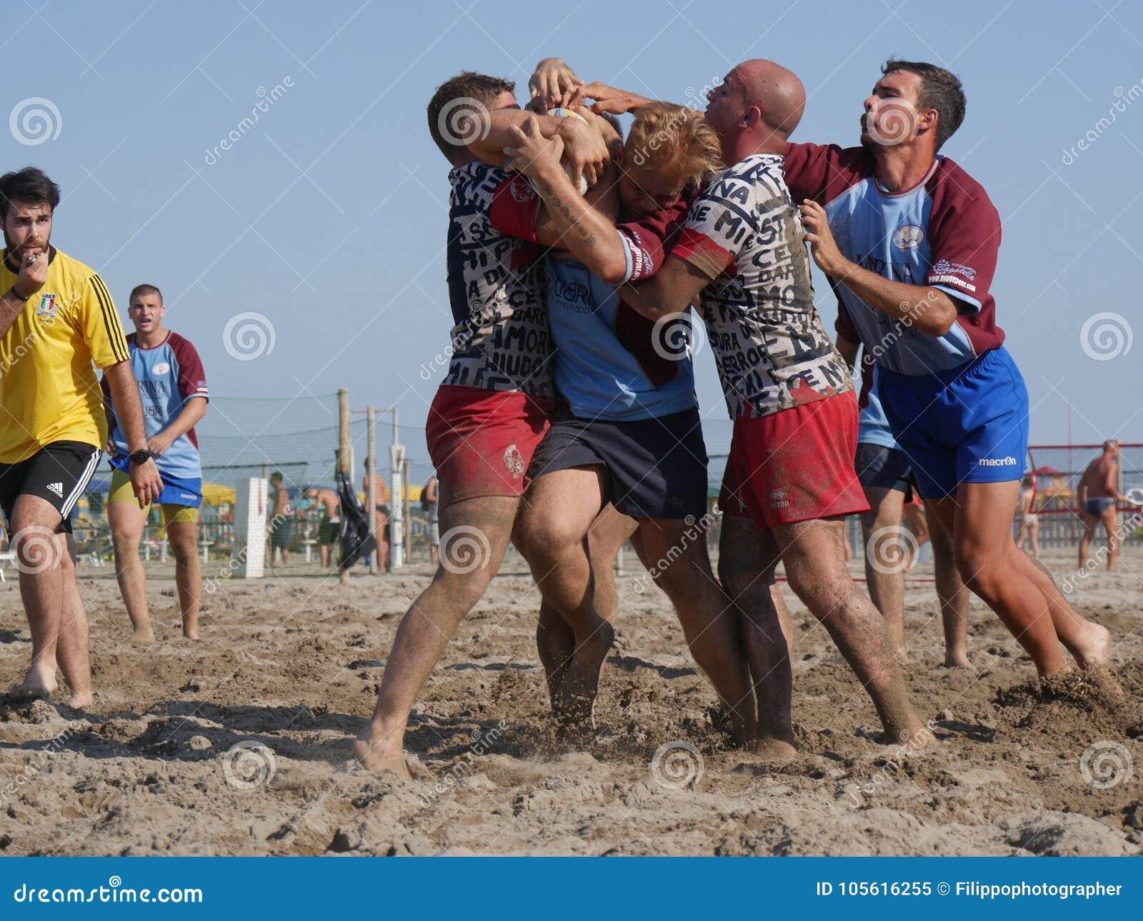 Beach rugby rosolina fi vs rosolina editorial image