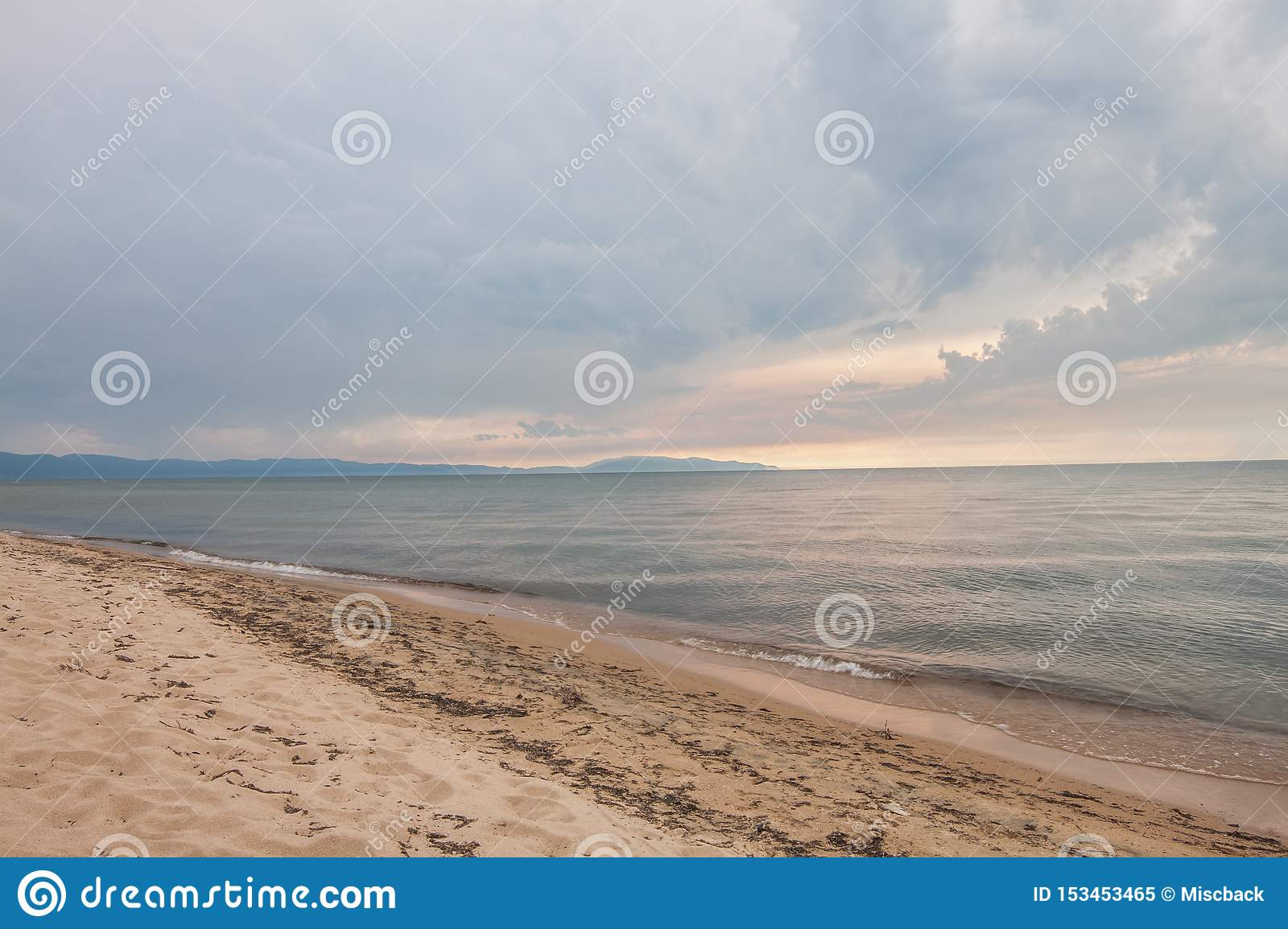 Beach on the sacred lake Baikal