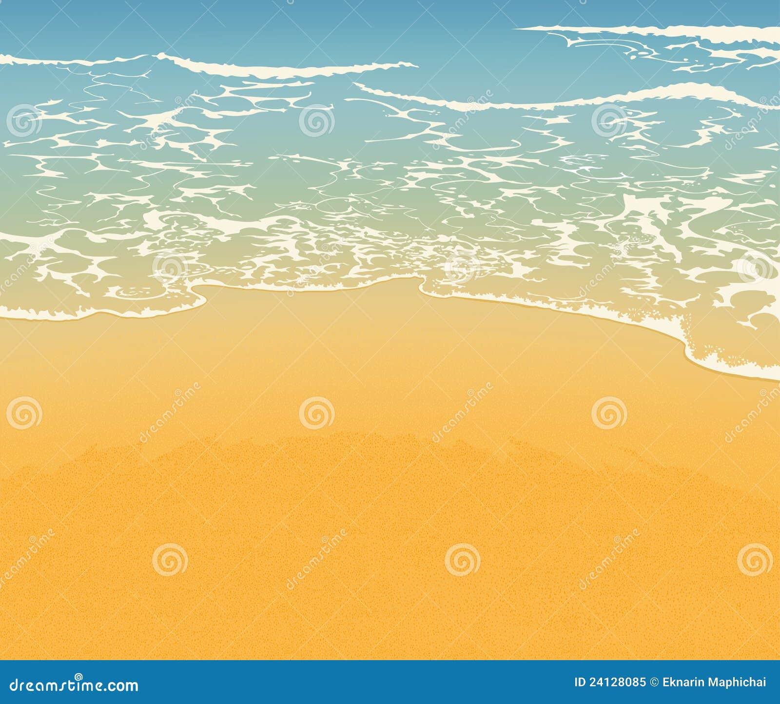 beach and sand stock illustration illustration of wave 24128085 rh dreamstime com Beach Sand Pile Clip Art Beach Scene Clip Art